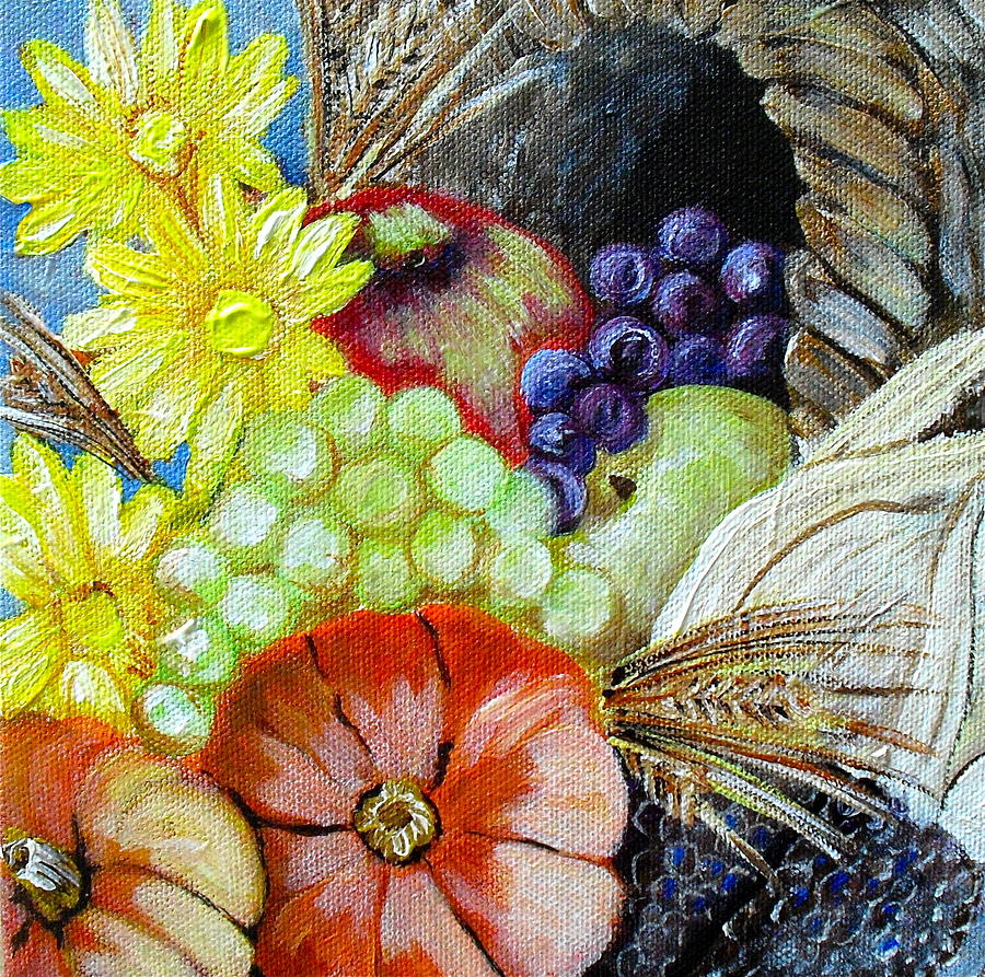 Thanksgiving Painting - Let Us Give Thanks by Melissa Torres