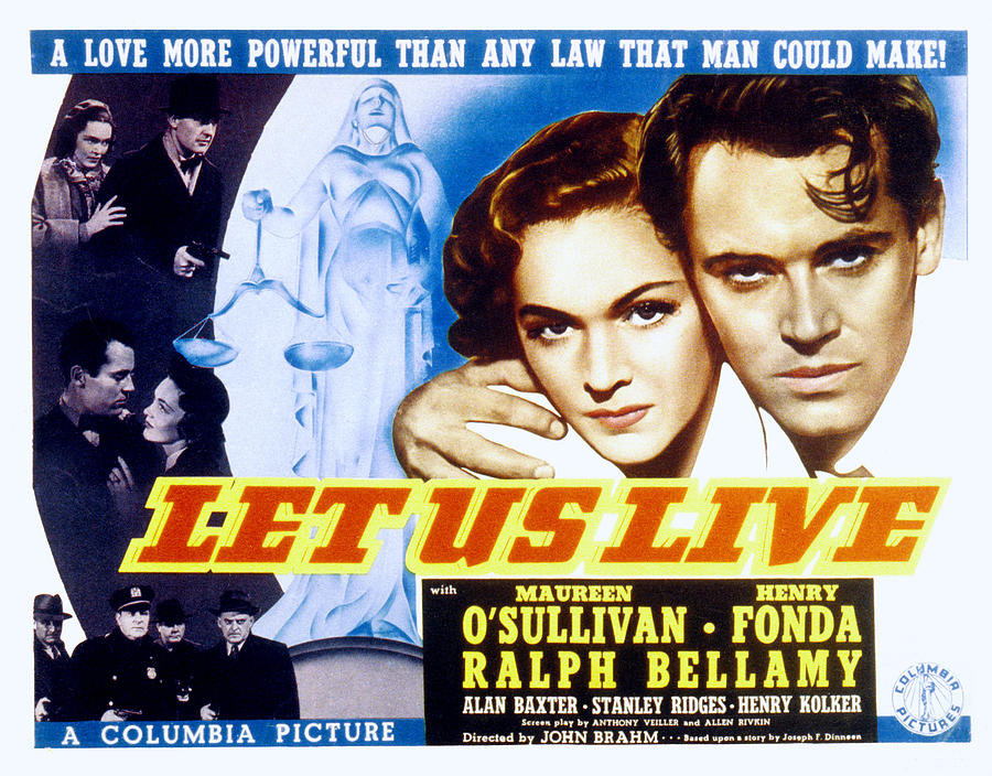 1930s Movies Photograph - Let Us Live, Maureen Osullivan, Henry by Everett