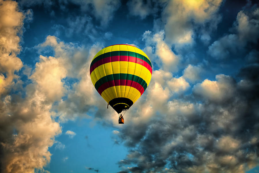 Hot Air Balloon Photograph - Let Us Take A Ride by Gary Smith