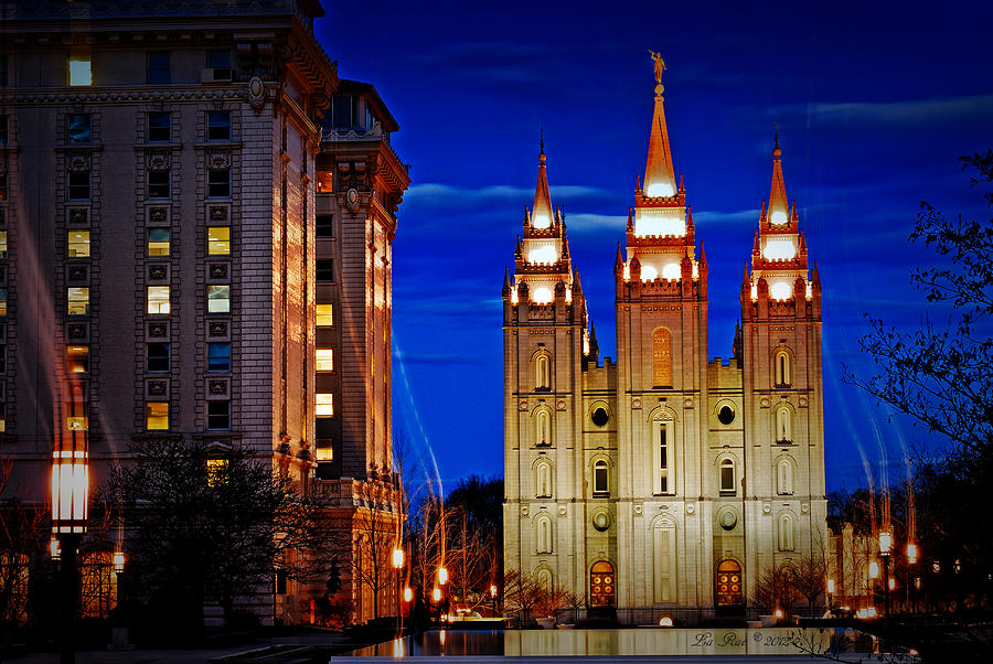 Temple Photograph - Let Your Light Shine by La Rae  Roberts