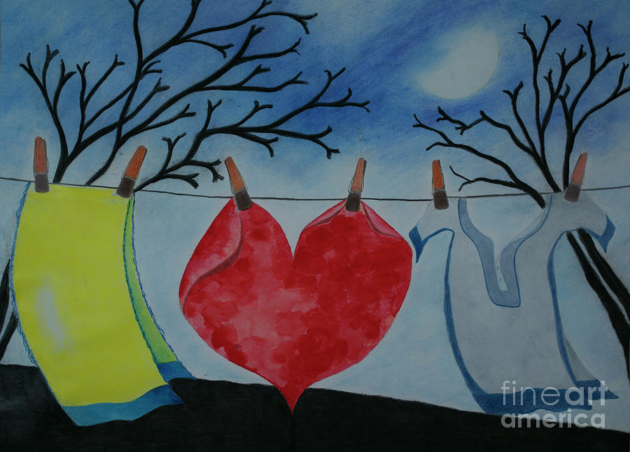 Heart Painting - Lets Wash Heart by Jalal Gilani