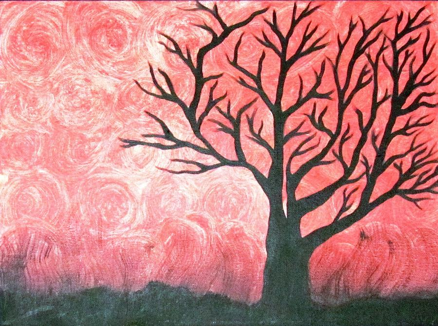 Tree Painting - Leuces Shadow by Diana Martinez