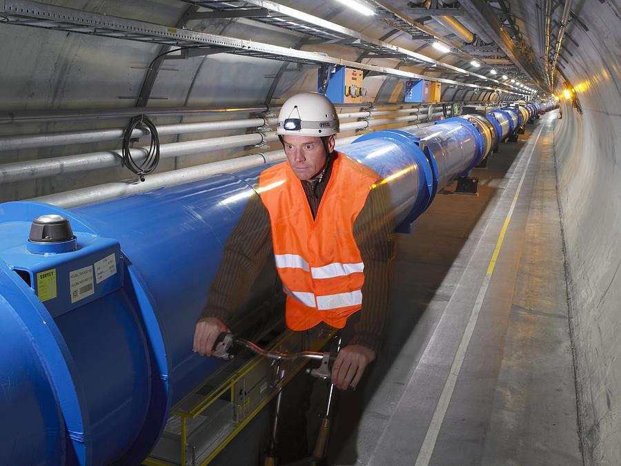 Lhc Photograph - Lhc Tunnel, Cern by David Parker