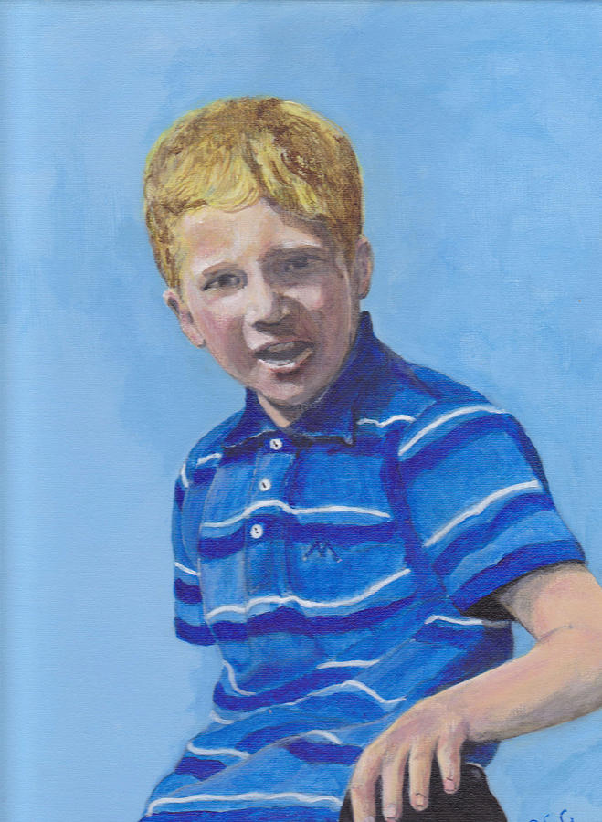 Acrylic Painting - Liam by Peter Edward Green