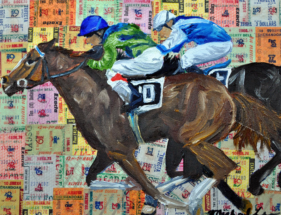 Horse Racing Painting - Liberty Bell by Michael Lee