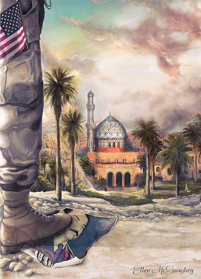American Soldier Painting - Liberty by Ellen Mcgaughey