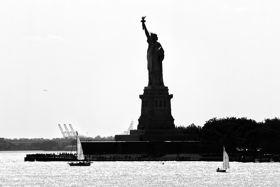 America Photograph - Liberty Island by Artistic Photos