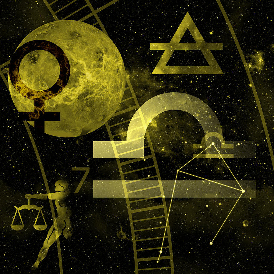 Horoscope Digital Art - Libra by JP Rhea
