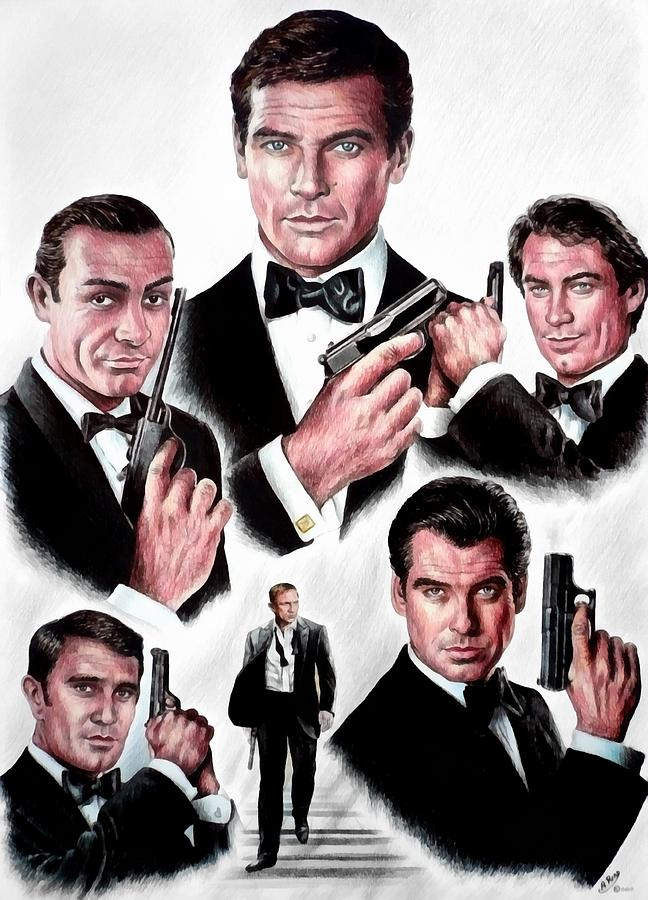 James Bond Drawing - Licence To Kill  Digital by Andrew Read