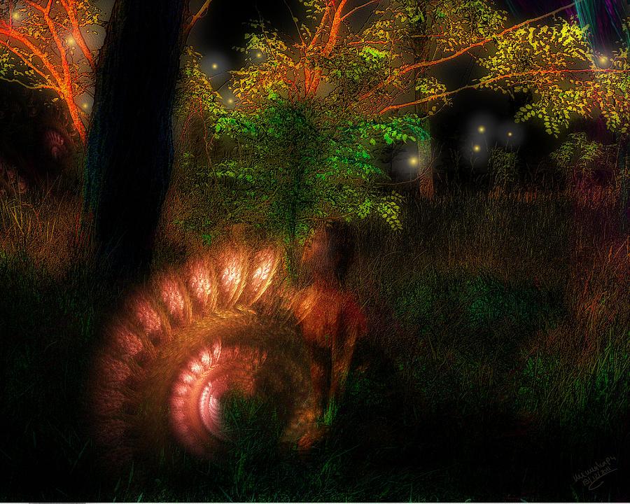 Licht Digital Art - Lichtwesen by Mimulux patricia no No