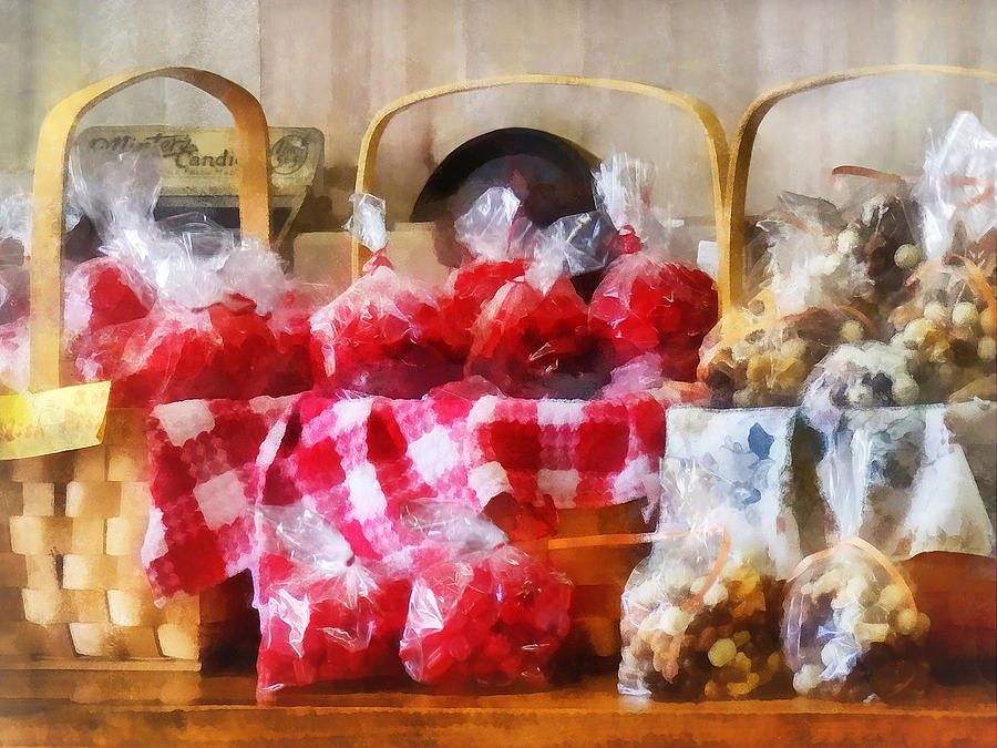 Candy Photograph - Licorice And Chocolate Covered Peanuts by Susan Savad