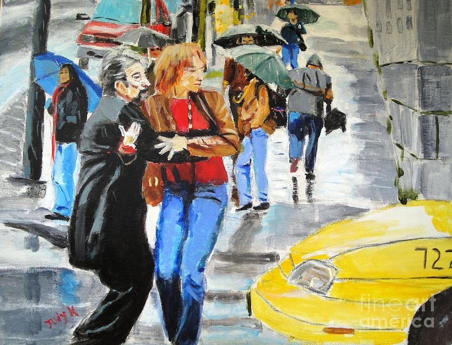 Cityscape Painting - Life In The Big City by Judy Kay