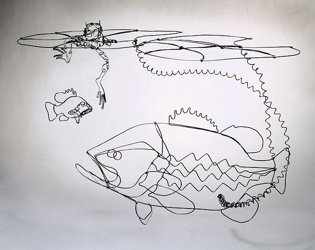 Fish Sculpture - Life On The Edge by Bud Bullivant