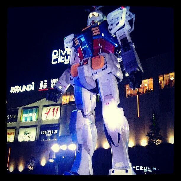 Japan Photograph - Life Sized Gundam At Tokyo Diver City by Jasmine Chye