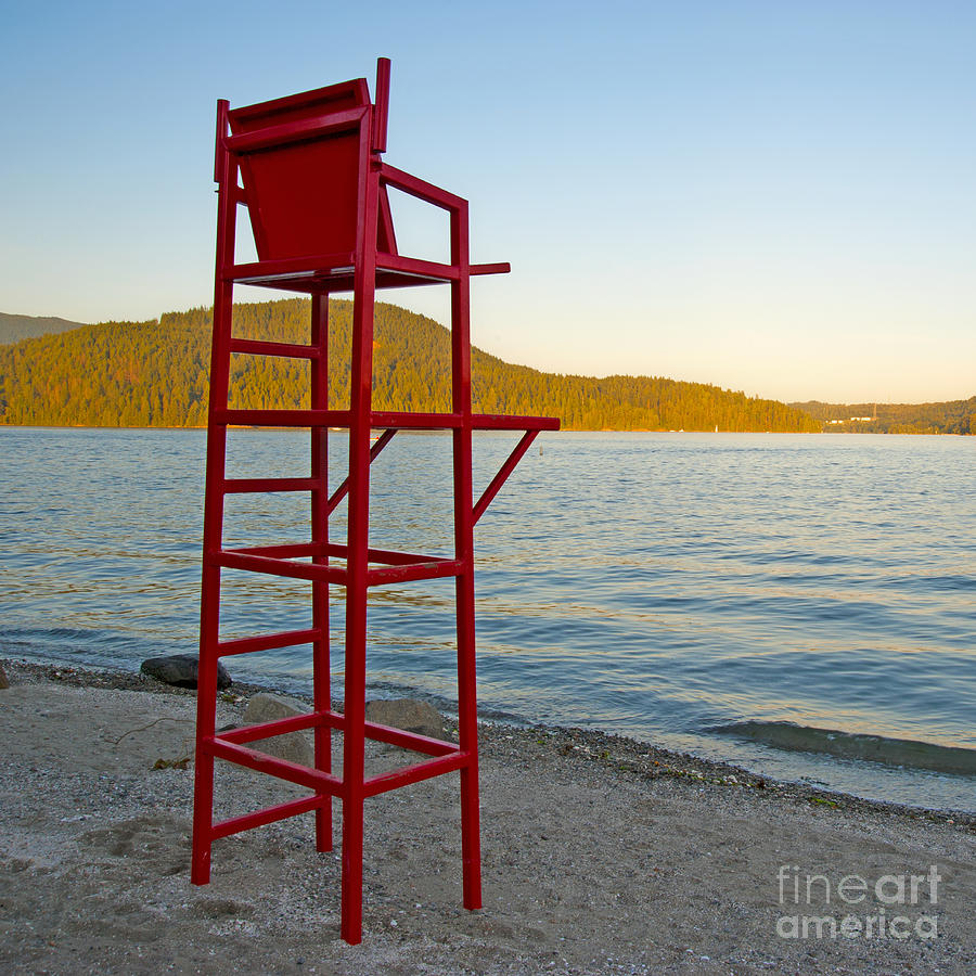 Bay Photograph   Lifeguard Chair At The Beach By Marlene Ford