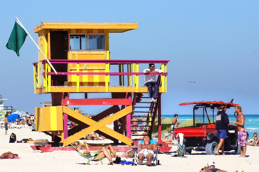 Lifeguard Hut Photograph - Lifeguard Hut by Dieter  Lesche