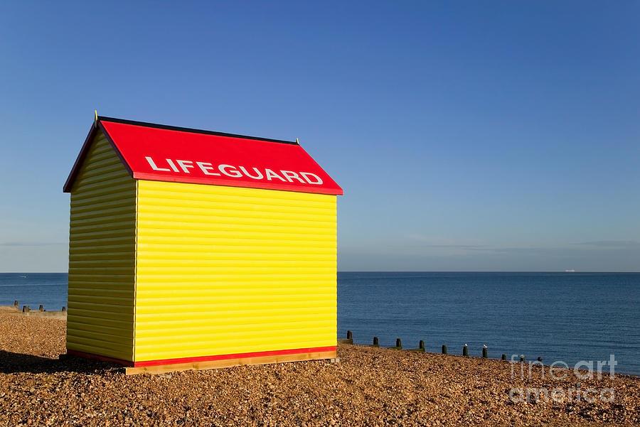 Lifeguard Photograph - Lifeguard Hut by Richard Thomas