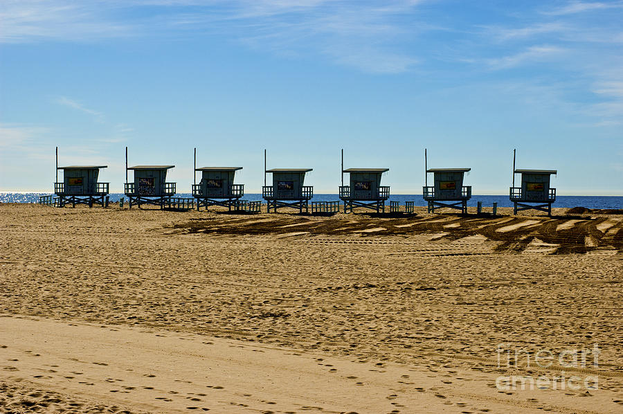 Malibu Photograph - Lifeguard Stands On The Beach by Micah May