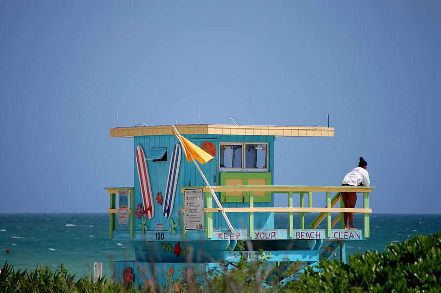 Lifeguard Photograph - Lifeguard Tower by Ama Arnesen