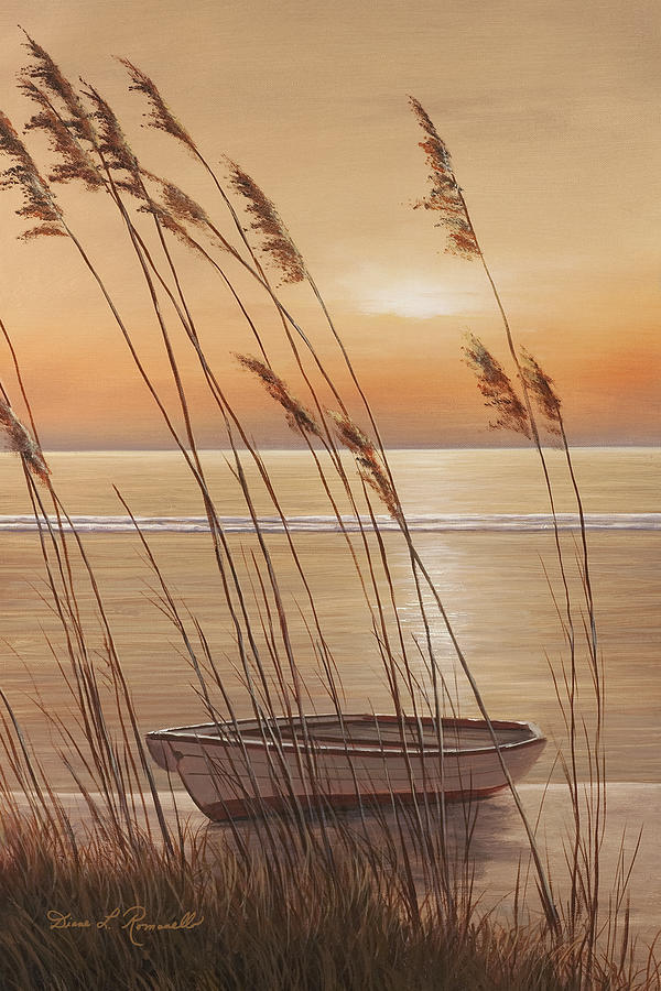 Row Boat Painting - Lifes Dream by Diane Romanello