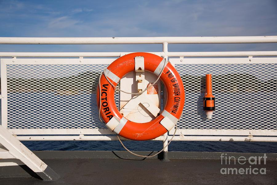 Bc Ferries Photograph - Lifesaver On The Spirit Of British Columbia by Ei Katsumata