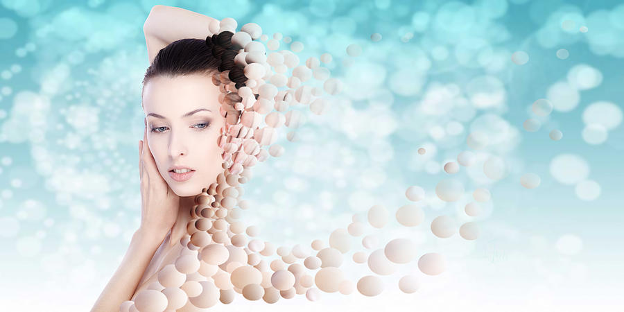 Bubbles Digital Art - Lifting The Weight Off My Shoulders by Rozalia Toth