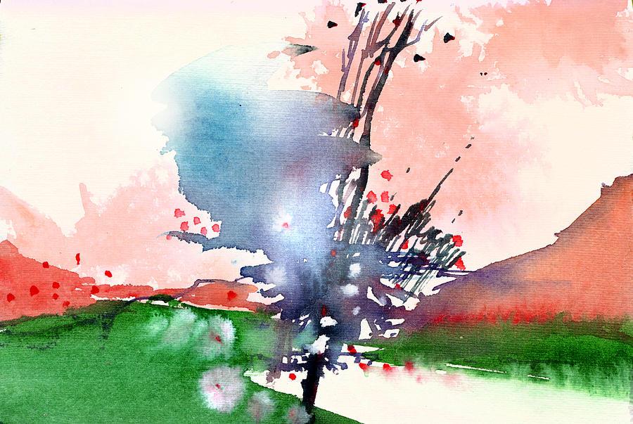 Landscape Painting - Light 2 by Anil Nene