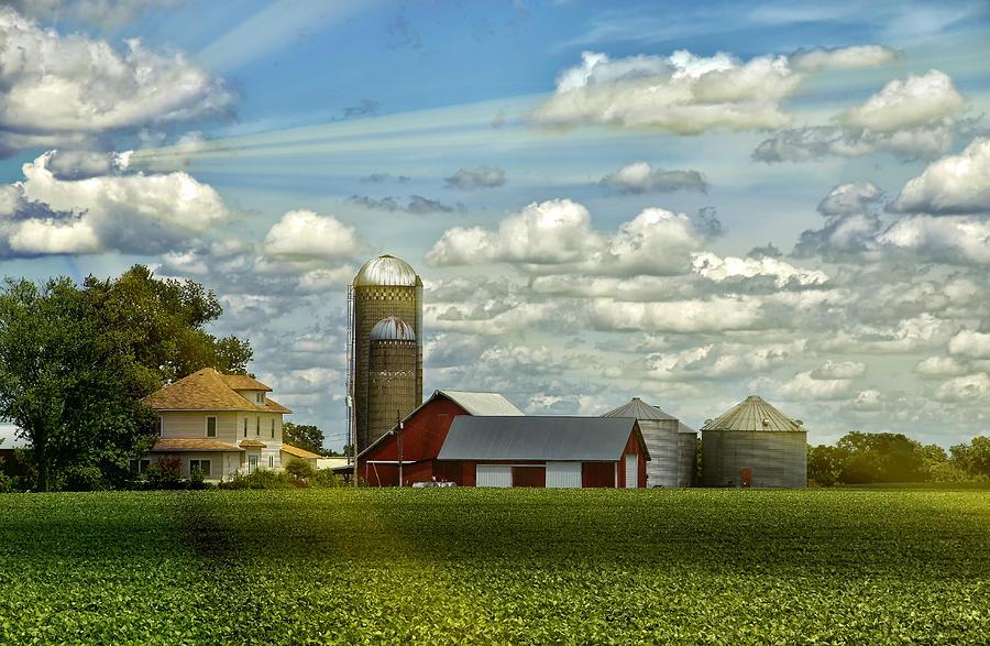 Barn Photograph - Light After The Storm by Bill Tiepelman