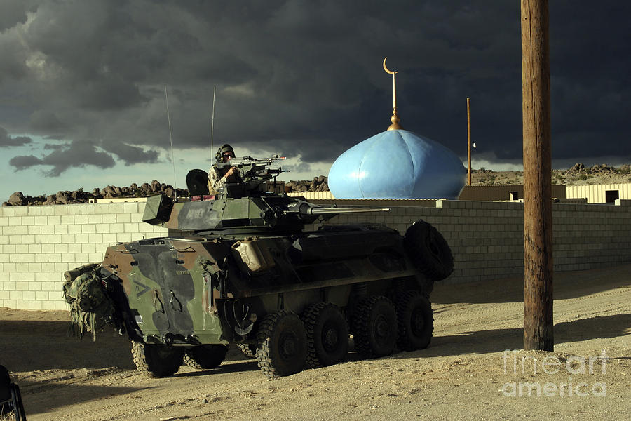 Aiming Photograph - Light Armored Vehicle Commander Mans by Stocktrek Images