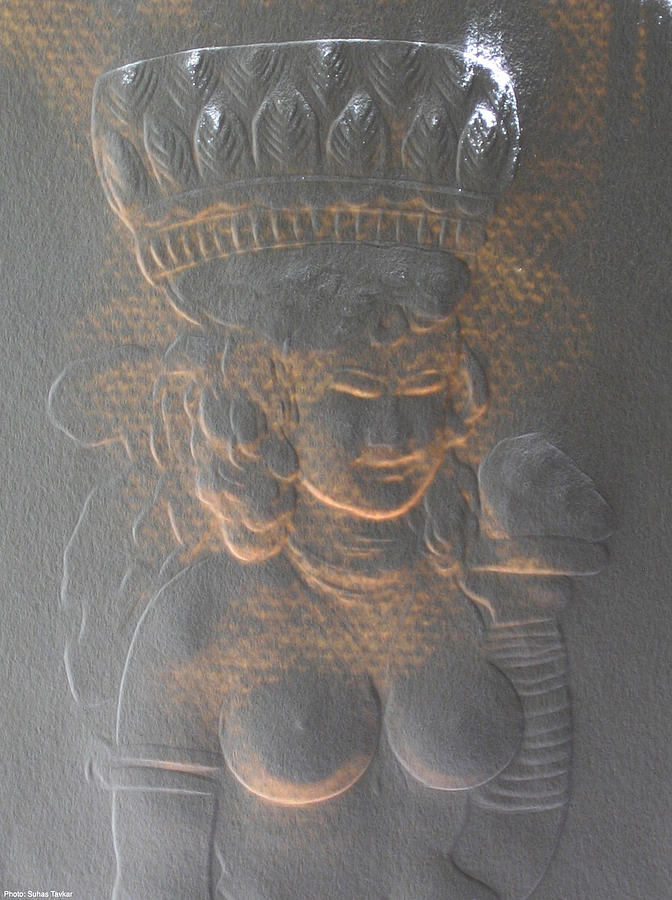 Ancient Indian Art Relief - Light Behind Relief Art by Suhas Tavkar