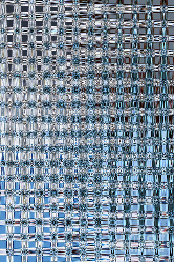 Blue And Gray Photograph - Light Blue And Gray Abstract by Carol Groenen