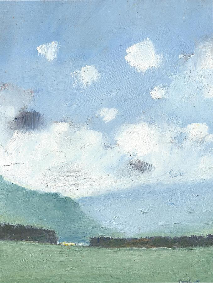 English Landscape Painting Painting - Light Blue Morning by Alan Daysh