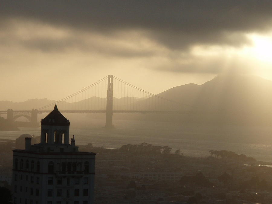 San Francisco Photograph - Light Break by Tania Kelvin
