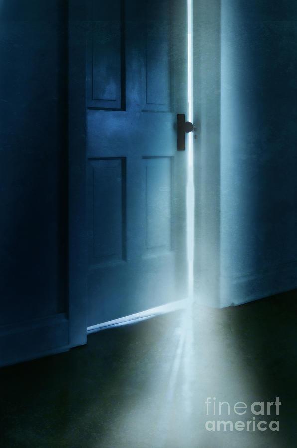 Dark Photograph - Light Coming From A Door Ajar by Jill Battaglia & Light Coming From A Door Ajar Photograph by Jill Battaglia