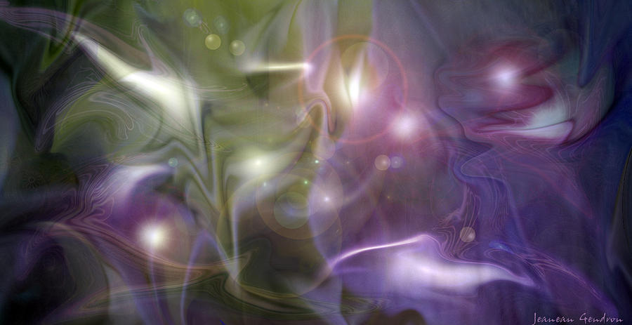 Flower Abstract Photograph - Light Dance by Jeanean Gendron