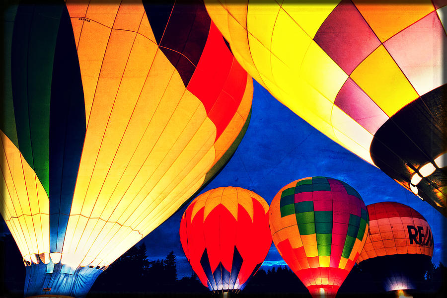 Balloons Photograph - Light em Up by Brian Bonham