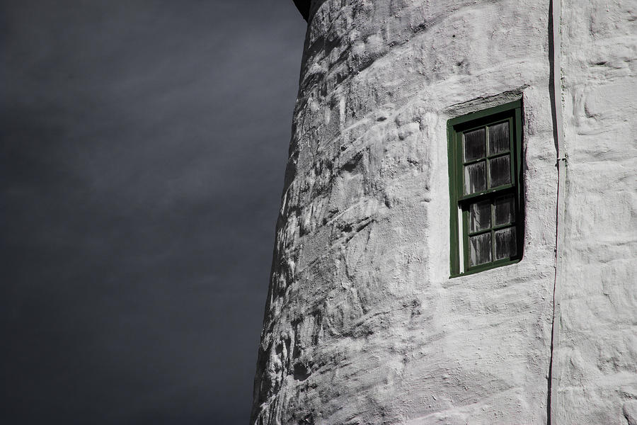 Light House Photograph - Light House Window by Vintage Pix