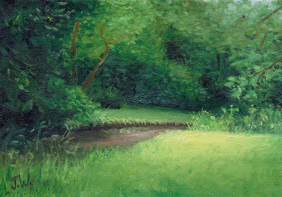 Trees Painting - Light In August by Joe Winkler