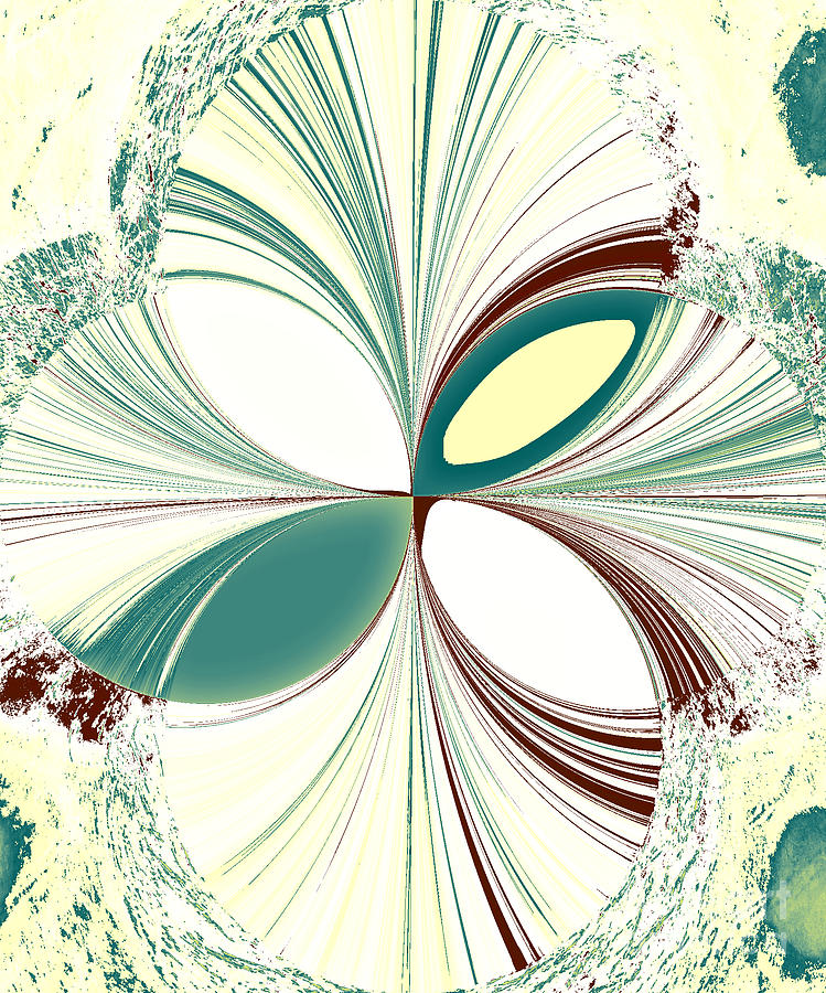 Abstract Digital Art - Light in the Darkness White by Karen Francis