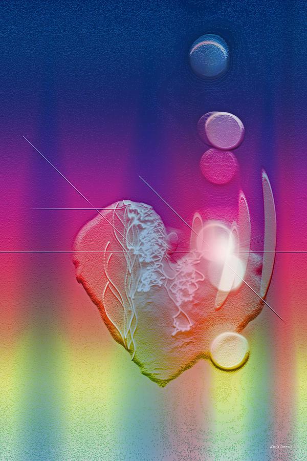 Heart Digital Art - Light In Your Heart by Linda Sannuti