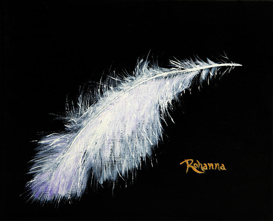 Feathery Painting - Light by Judy M Watts-Rohanna