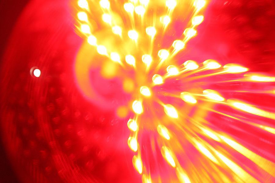 Orange Mixed Media - Light Machine by Will Czarnik