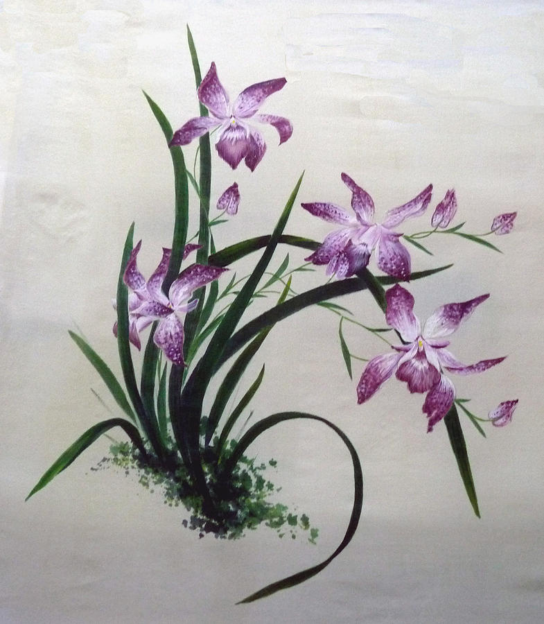 Chinese Brush Painting Painting - Light Of Day by Rayne Van Sing