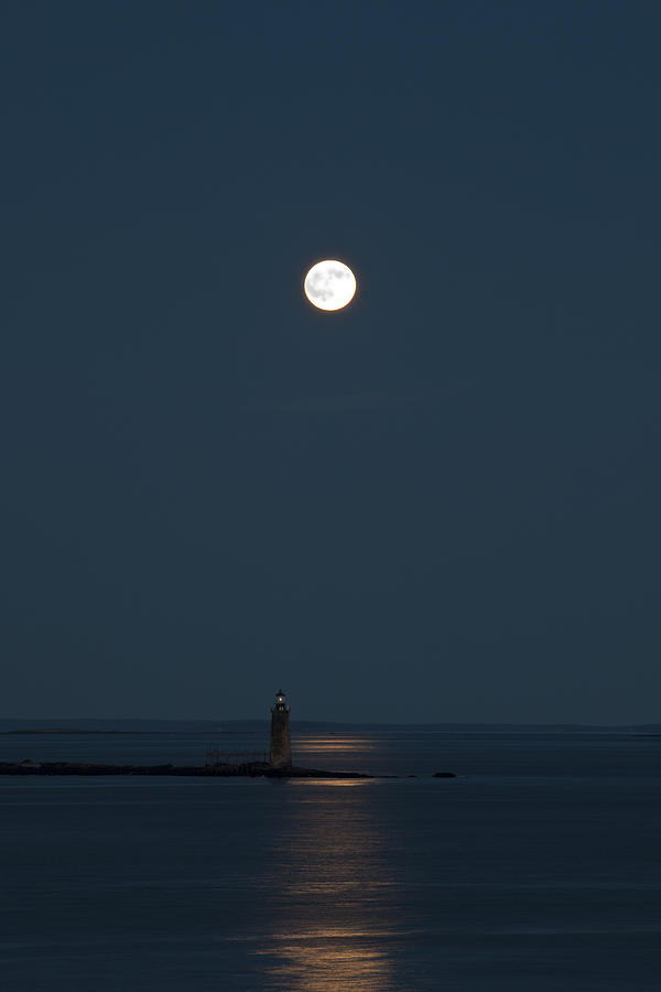 Lighthouse Photograph - Light Of The Moon by Sara Hudock