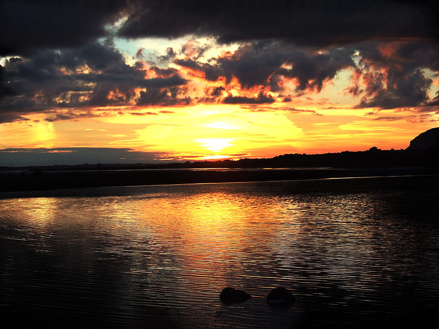 Sunset Photographs Photograph - Light On The Water by Eddie Armstrong