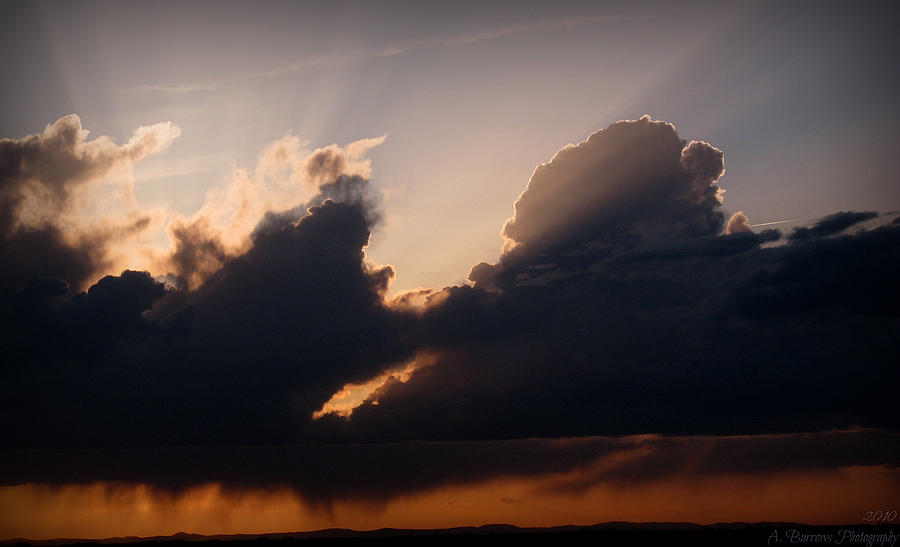 Albuquerque Photograph - Light Rays And Rainy Skies by Aaron Burrows