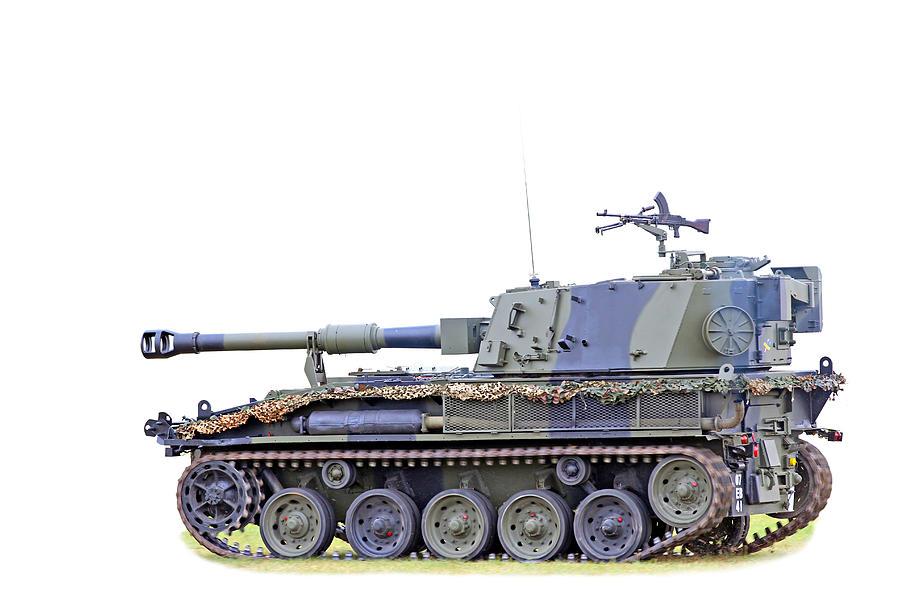 Action Photograph - Light Weight Battle Tank by Paul Fell