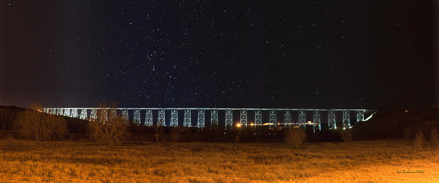 Bridge Photograph - Lighted High Level Bridge by Tom Buchanan