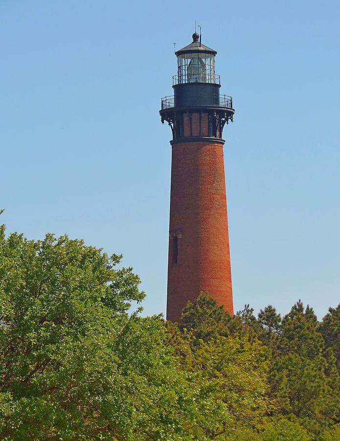 Lighthouse Photograph - Lighthouse At Corolla N C by J D  Whaley