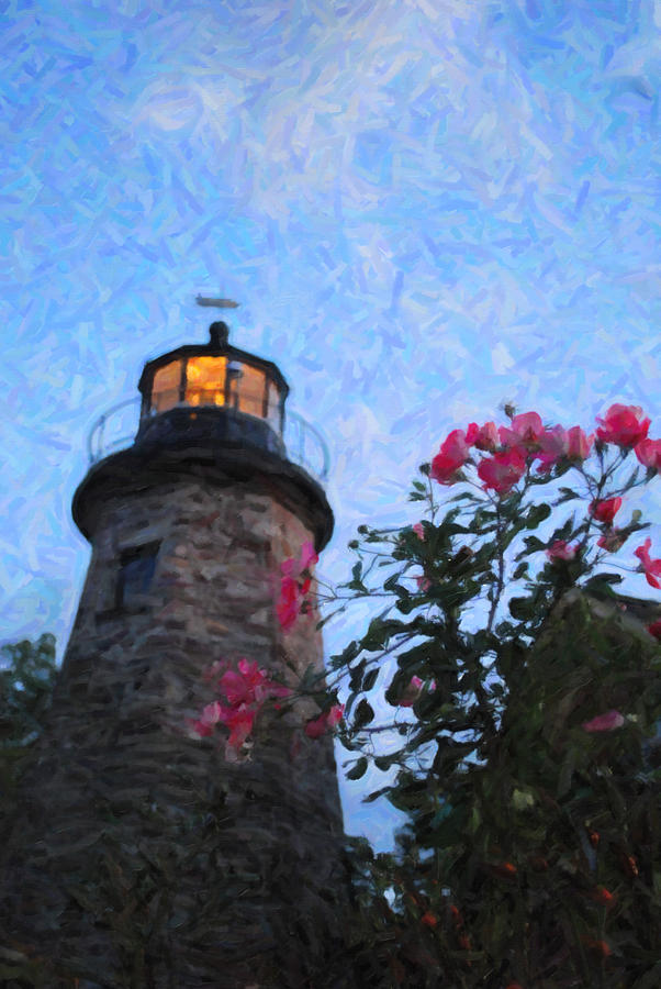 Lighthouse Photograph - Lighthouse N Pink by Emily Stauring